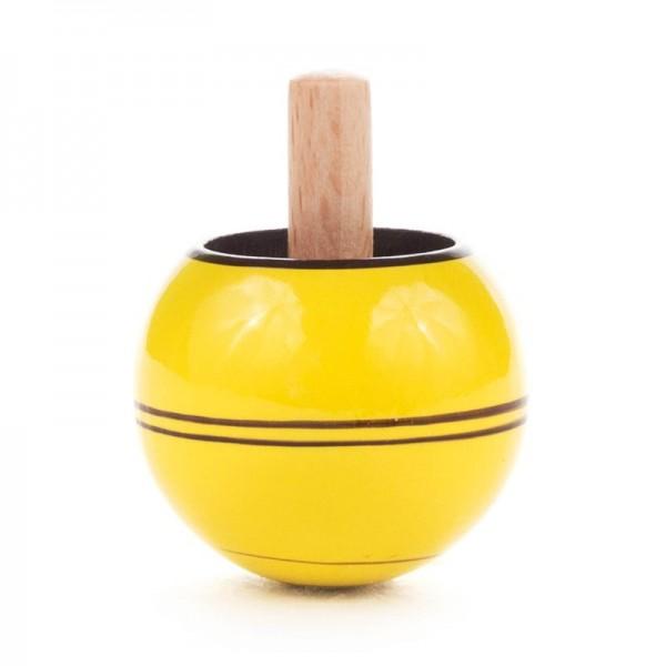 Dregeno Erzgebirge - Miniatur-Steh-Auf-Kreisel, gelb