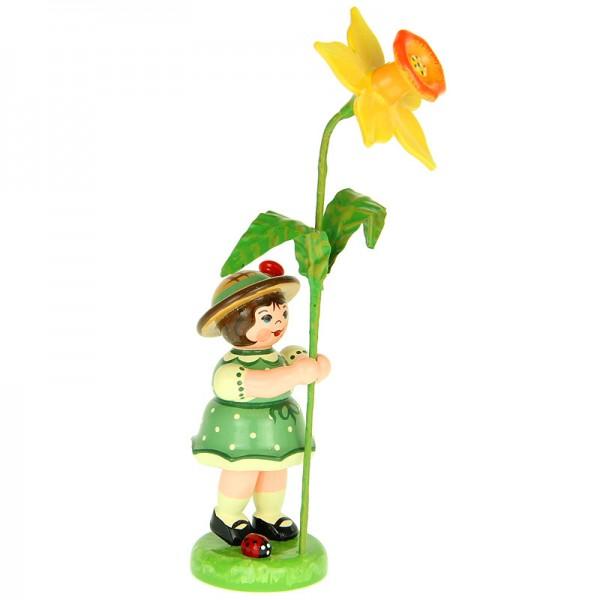 Hubrig Blumenmädchen 11cm Blumenkind mit Narzisse