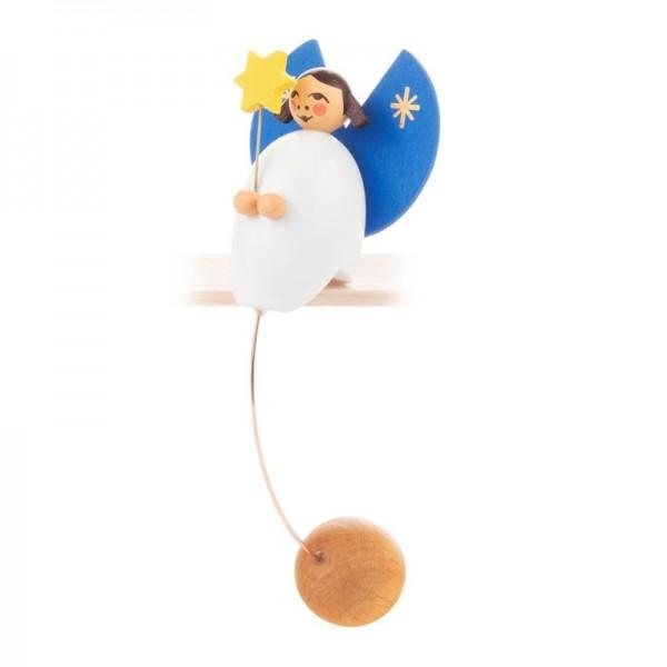 Dregeno Erzgebirge - Miniatur-Schaukelfigur Engel mit Stern