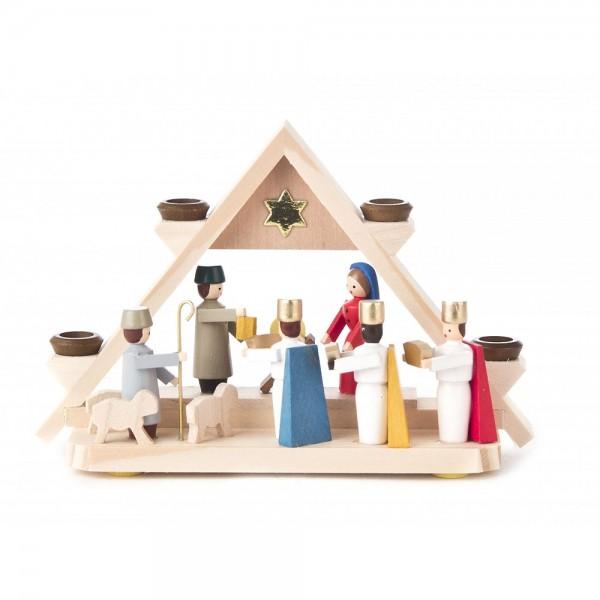 Dregeno Erzgebirge - Miniatur-Lichtergiebel mit Christi Geburt