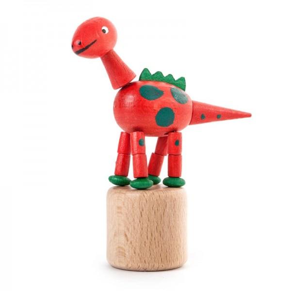 Dregeno Erzgebirge - Miniatur-Wackeltier Dinosaurierer, rot