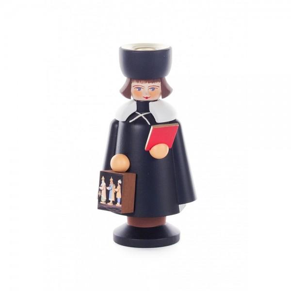 Dregeno Erzgebirge - Kurrendefigur als Kerzenhalter mit Laterne Drei Könige - 11cm