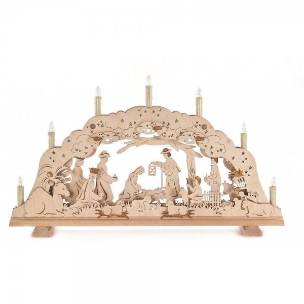 Dregeno Erzgebirge - Schwibbogen mit Christi Geburt, dreidimensional