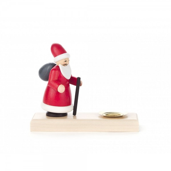 Dregeno Erzgebirge - Kerzenhalter mit Ruprecht - 8cm