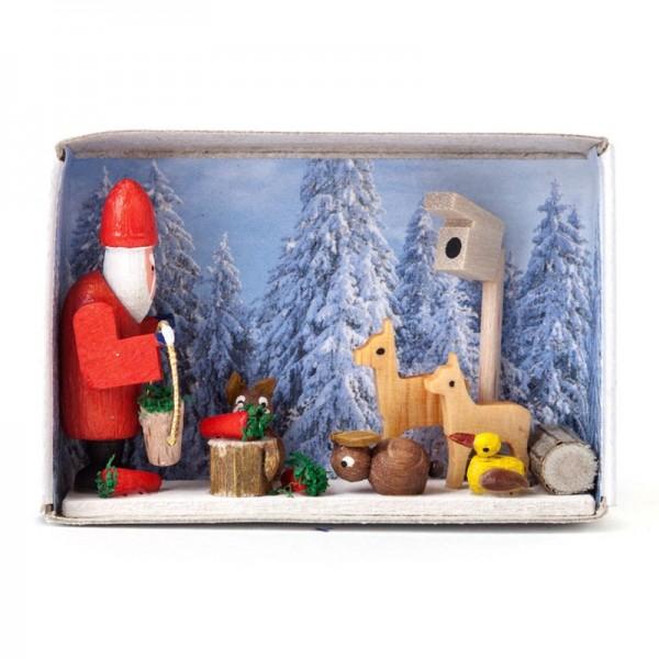Dregeno Erzgebirge - Miniatur-Zündholzschachtel Weihnacht im Winterland