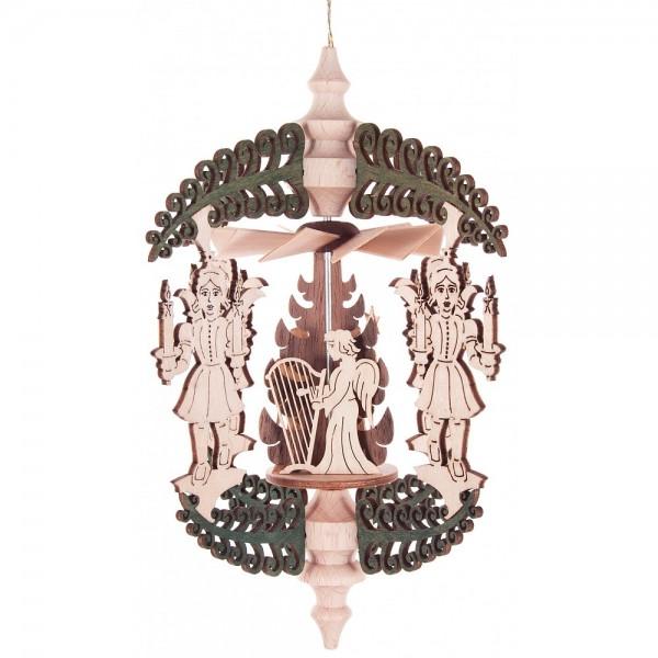 Dregeno Erzgebirge - Wärmespiel Rollbaum mit Lichterengeln und Engelchor zum Hängen
