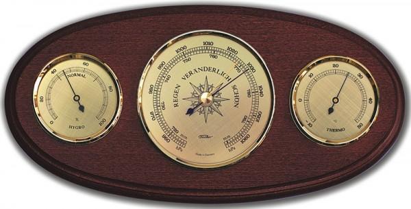 Fischer Wetterstation Klassik mit Holzgehäuse 310x150mm
