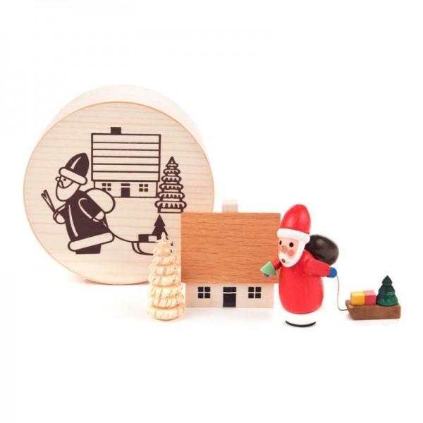 Dregeno Erzgebirge - Miniatur-Weihnachtsmann in Spandose