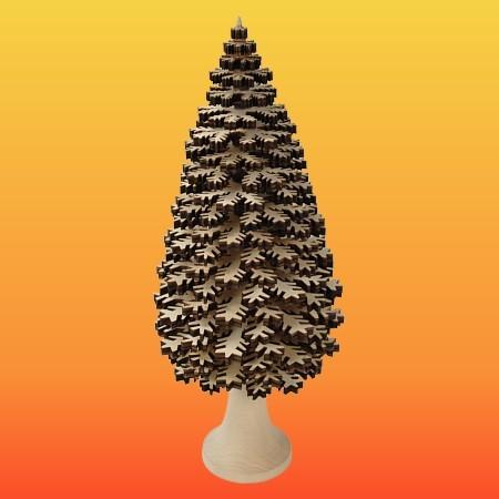 Lenk & Sohn Erzgebirgischer Schichtenbaum Nadelbaum 30cm natur