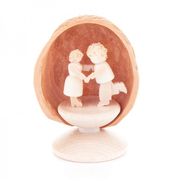 Dregeno Erzgebirge - Miniatur in Walnuss-Schale, Tanzpaar