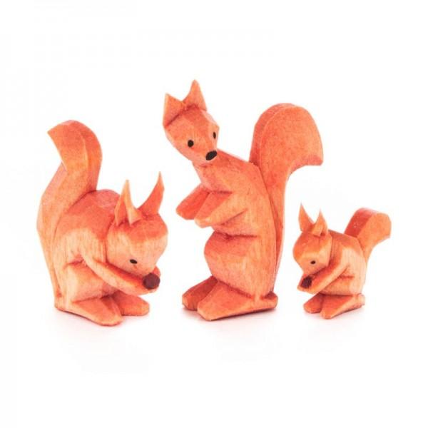 Dregeno Erzgebirge - Miniatur-Geschnitzte Eichhörnchen
