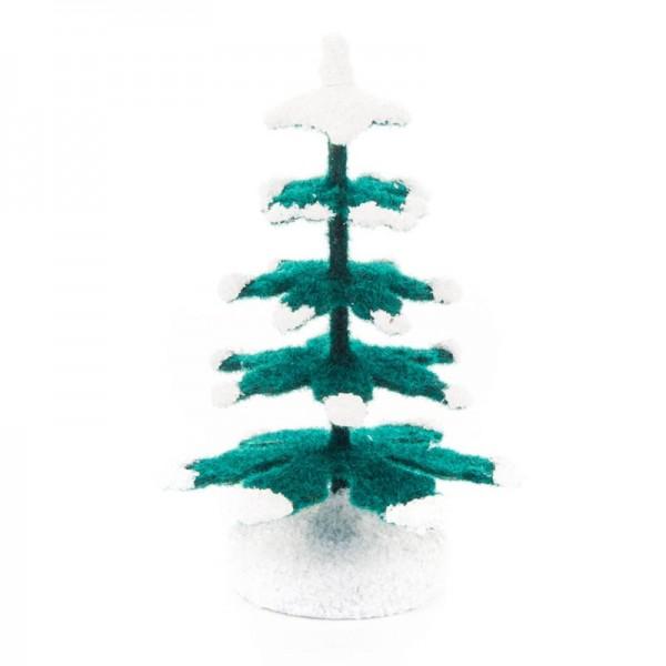 Dregeno Erzgebirge - Miniatur-Fichten, grün/weiß, 6,4 cm
