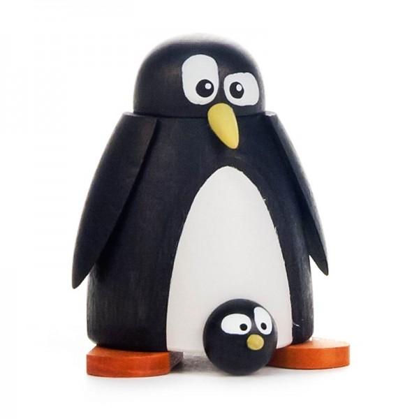 Dregeno Erzgebirge - Pinguin mit Baby