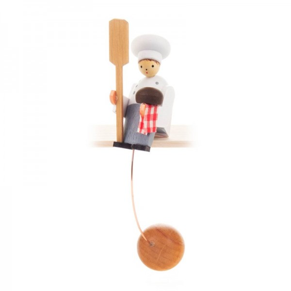 Dregeno Erzgebirge - Miniatur-Schaukelfigur Bäcker