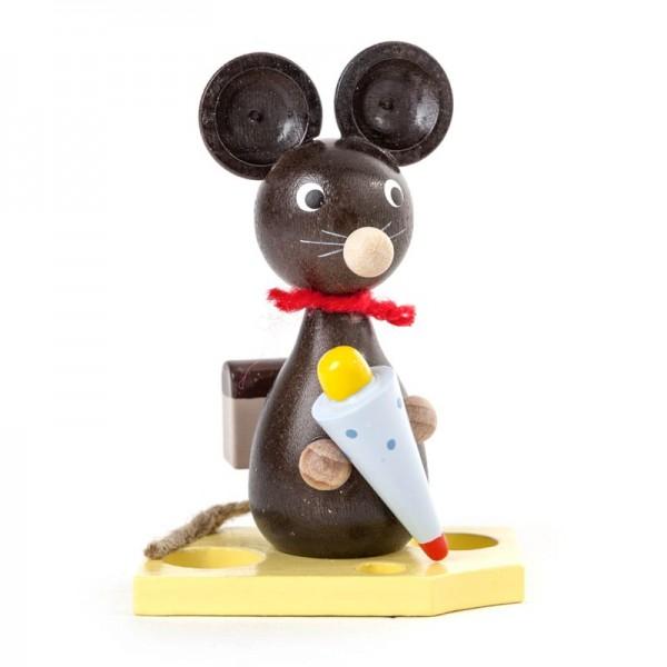 Dregeno Erzgebirge - Miniatur-Maus mit Zuckertüte