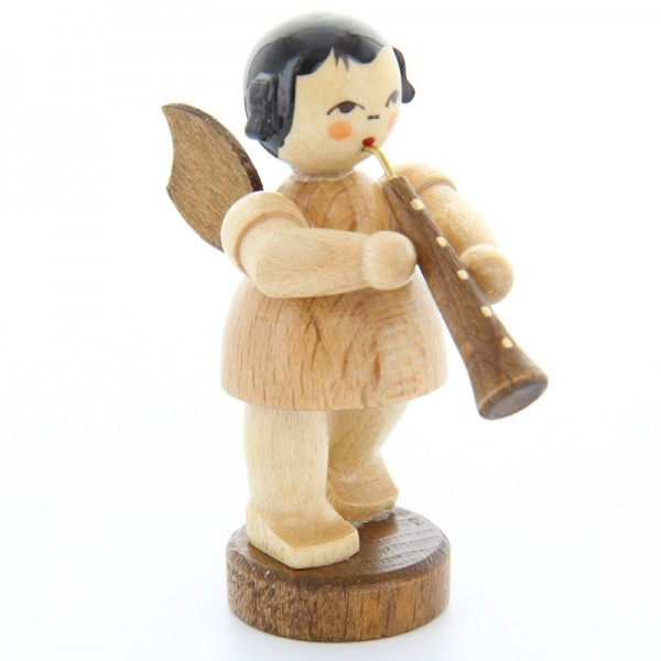 Uhlig Engel stehend mit Oboe, natur, handbemalt