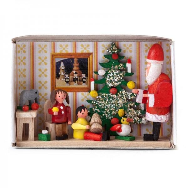 Dregeno Erzgebirge - Miniatur-Zündholzschachtel Kinderweihnachtsfeier