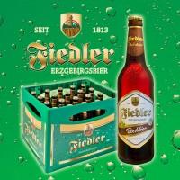 Fiedler Erzgebirgsbier - Bockbier Dunkel - 0,5l