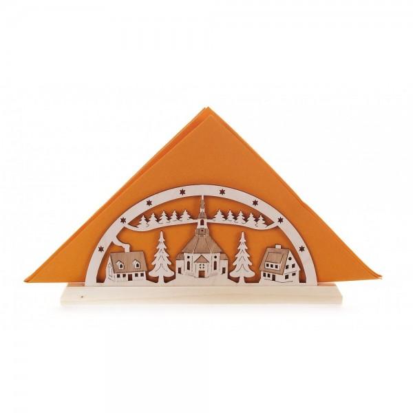 Dregeno Erzgebirge - Serviettenhalter, Motiv Seiffener Kirche