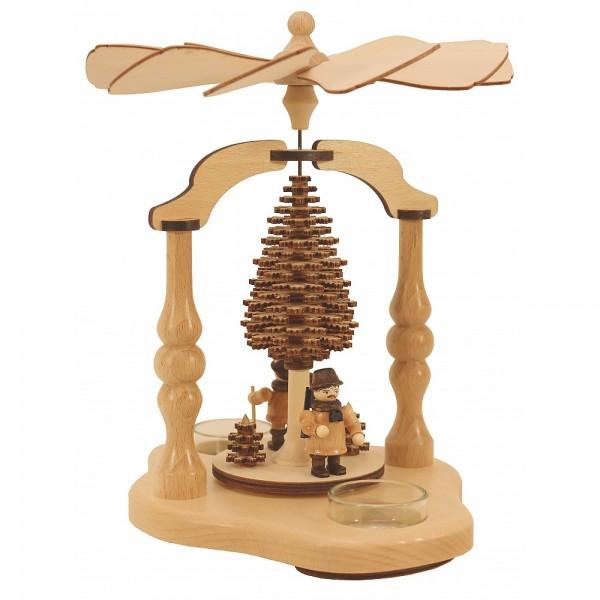 Lenk & Sohn Teelicht Pyramide Waldfiguren 2-flammig