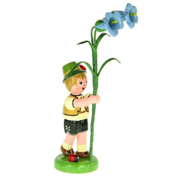 Hubrig Blumenjunge 11cm Blumenkind mit Enzian