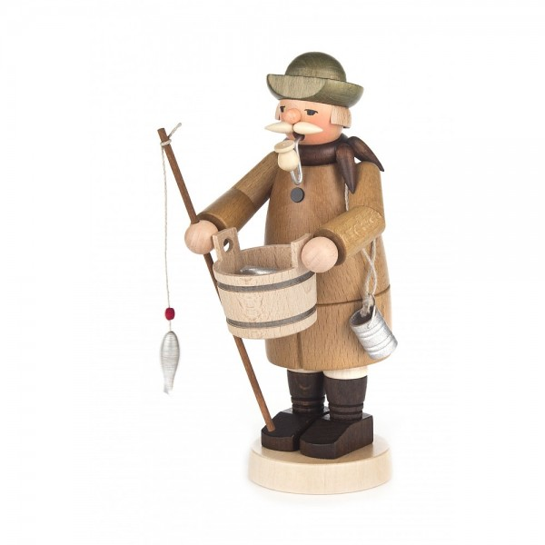Dregeno Erzgebirge - Räuchermann Angler - 18cm