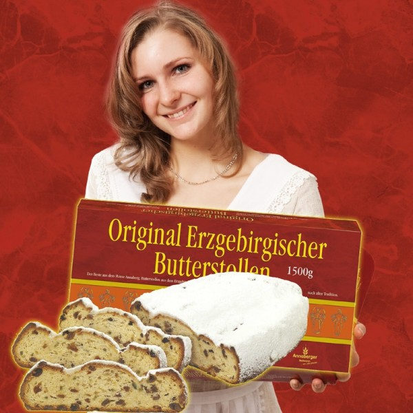 Original Erzgebirgischer Butterstollen 1500 Gramm
