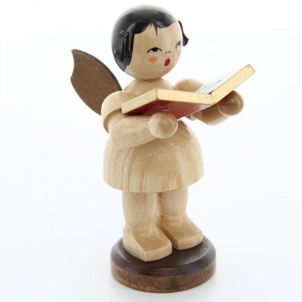 Uhlig Engel groß stehend mit Buch, natur, handbemalt