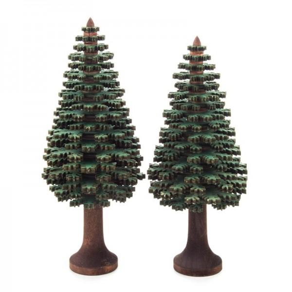 Dregeno Erzgebirge - Miniatur-Nadelbäume, grün, 2-teilig