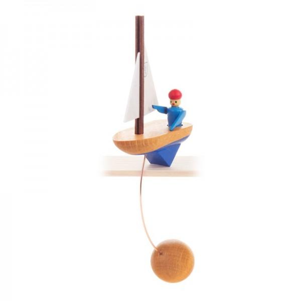 Dregeno Erzgebirge - Miniatur-Schaukelfigur Segelschiff
