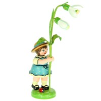 Hubrig Blumenmädchen 11cm Blumenkind mit Schneeglöckchen