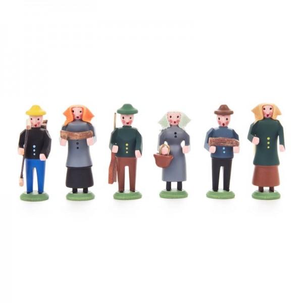 Dregeno Erzgebirge - Miniatur-Waldleute, 6 Figuren