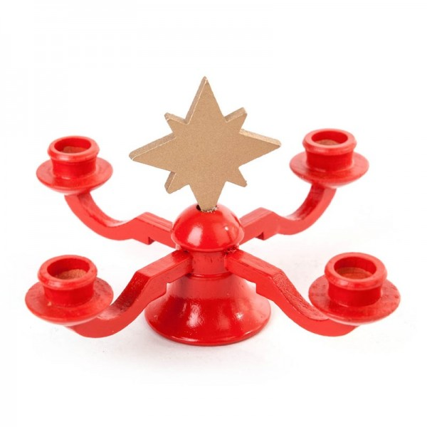 Dregeno Erzgebirge - Miniatur-Leuchter mit Stern