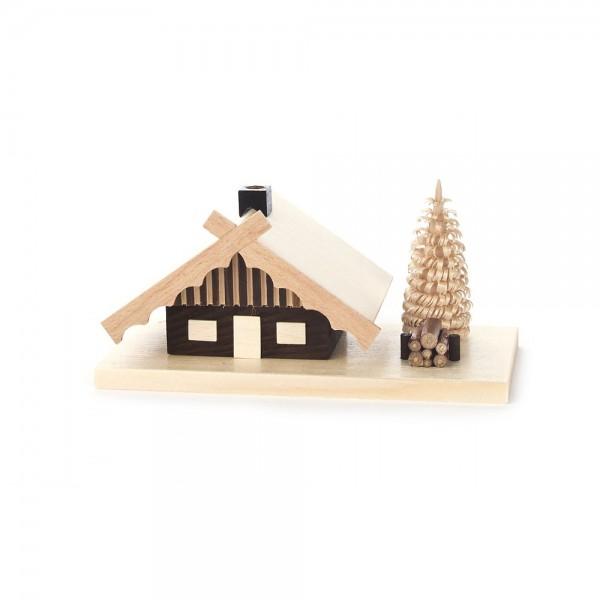 Dregeno Erzgebirge - Räucherhaus kleines Blockhaus - 7cm