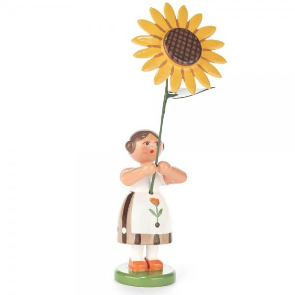 Dregeno Erzgebirge - Sommerblumenmädchen mit Sonnenblume