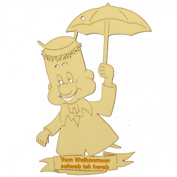 HELA Holzkunst - Arthur mit offenem Schirm zum Hängen und Stellen