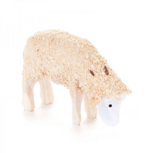 Dregeno Erzgebirge - Miniatur-Schaf fressend, weiß