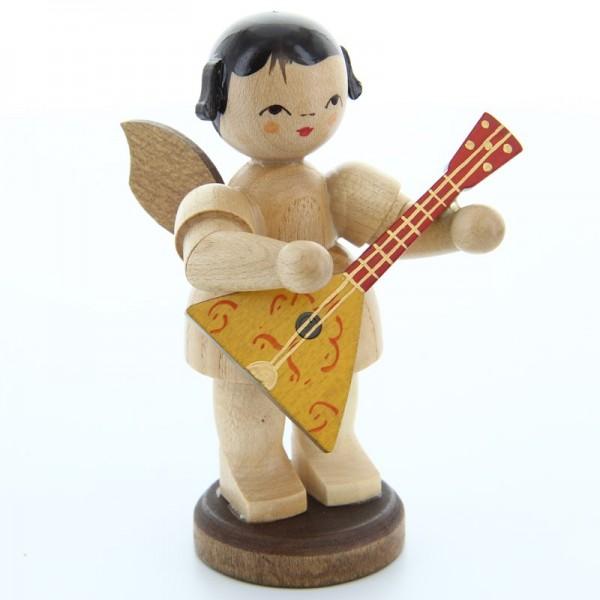 Uhlig Engel groß stehend mit Balalaika, natur, handbemalt