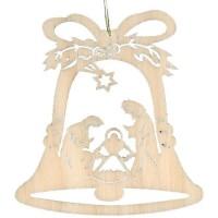 Lenk & Sohn Baumbehang Glocke Motiv Krippe