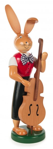 Dregeno Erzgebirge - Hase mit Bass, 25cm