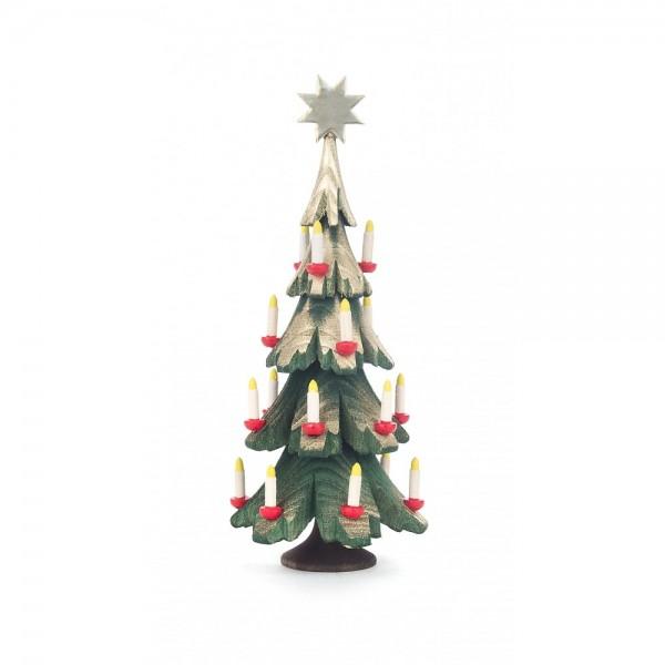 Dregeno Erzgebirge - Miniatur Weihnachtsbaum, gebeizt - 14cm