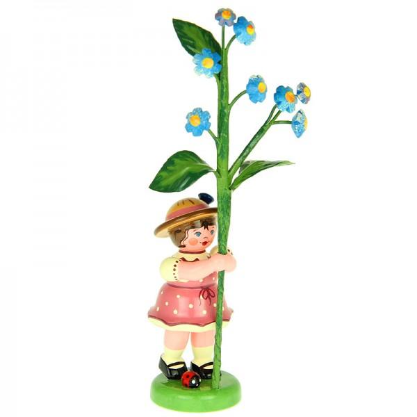 Hubrig Blumenmädchen 11cm Blumenkind mit Vergissmeinnicht