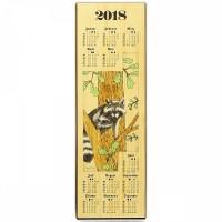 Holzkalender 2018 - Jagdmotiv Waschbär