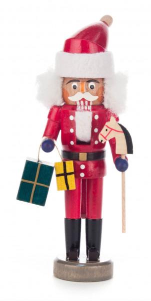 Dregeno Erzgebirge - Nussknacker Weihnachtsmann rot, 15cm