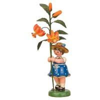 Hubrig Blumenkinder 17cm Mädchen mit Lilie