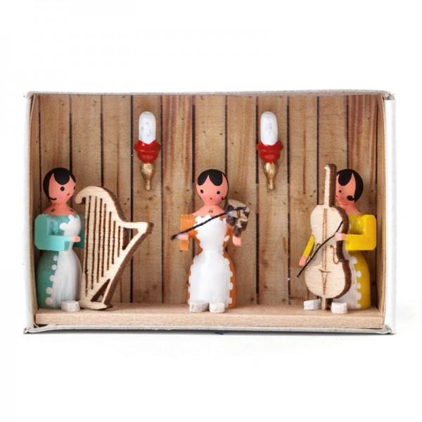 Dregeno Erzgebirge - Miniatur-Zündholzschachtel Hausmusik