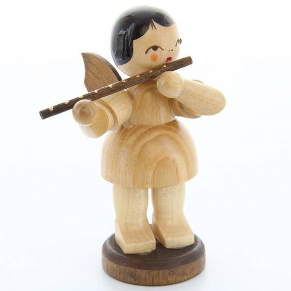 Uhlig Engel groß stehend mit Querflöte, natur, handbemalt