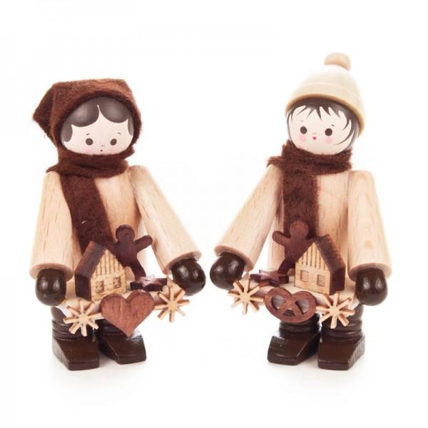 Dregeno Erzgebirge - Miniatur-Striezelkinder, klein, natur