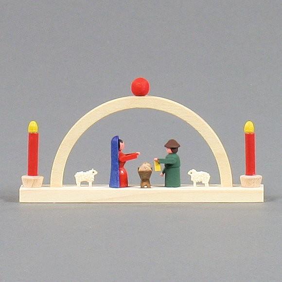 Dregeno Erzgebirge - Miniatur-Schwibbogen Christi Geburt