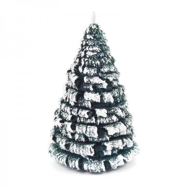 Dregeno Erzgebirge - Miniatur-Rauhreifbaum, grün/weiß, 8 cm, 3-teilig